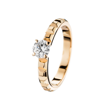 Clou de Paris Yellow Gold Solitaire -E VVS1-2, 0,20 carat