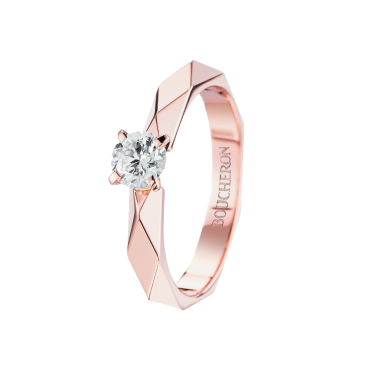 Solitaire Facette or rose-F VVS1-2, 0,20 carat