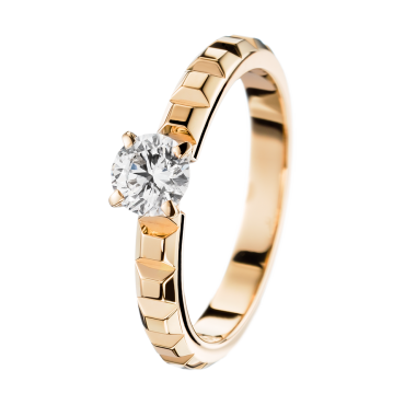 Pointe de Diamant Yellow Gold Solitaire -F VVS1-2, 0,41 carat