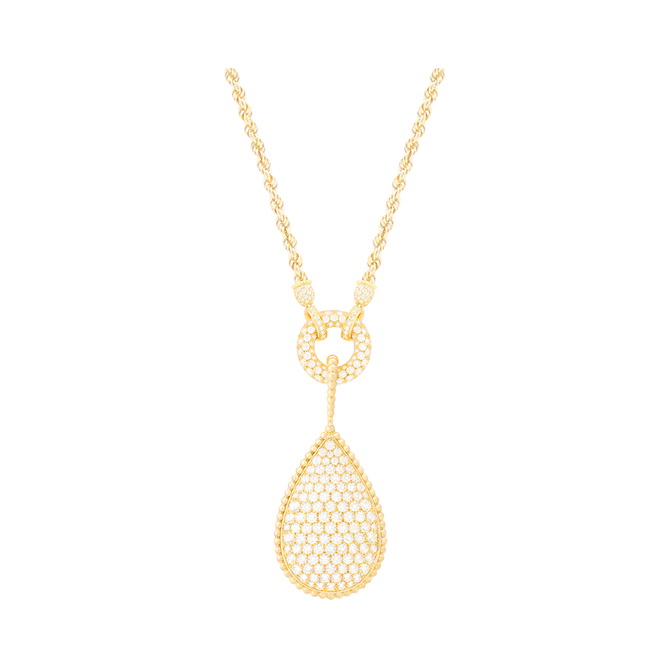 Boucheron 18k Diamond Swallows Pendant Necklace 23rq536