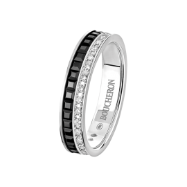quatre black edition wedding band - Black And White Wedding Rings